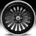 AF125 2-Tone Black and Chrome