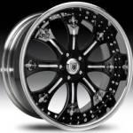 AF131 2-Tone Black & Chrome w/Fleur de Lis Inserts