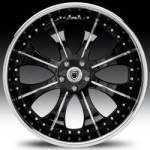 AF131 2-Tone Black and Chrome