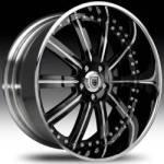 AF134 2-Tone Black & Chrome