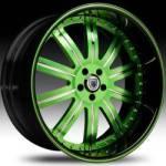 AF134 2-Tone Green & Chrome w/Black Lip