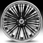 Af136 2-Tone Black & Chrome