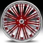 AF136 2-Tone Red & Chrome