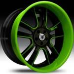 AF142 2-Tone Black & Green w/Green Lip