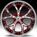AF143 2-Tone Chrome and Red