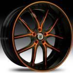 AF150 2-Tone Black & Orange with Black Lip