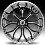 AF154 2-Tone Black and Chrome