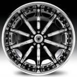 AF204 2-Tone Black and Chrome