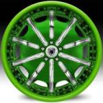AF204 2-Tone Green and Chrome
