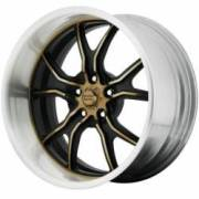 American Racing Vintage Forged VF498 Black Gold