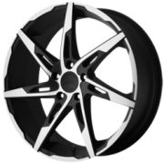 American Racing AR900 Black Machined