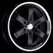 Ace Alloy Strada T-1R Black Machined Lip