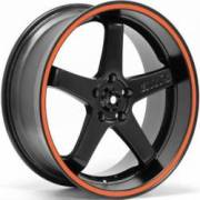 Axis Super Hiro Matte Black Orange Pinstripe