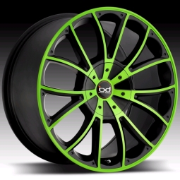 Blaque Diamond Spyder Lime Green