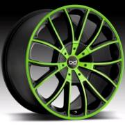 Blaque Diamond Spyder Black with Lime Green
