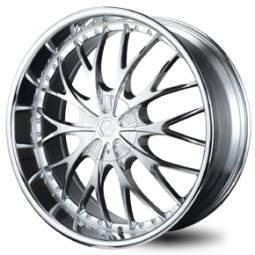 BSA 344 Chrome Wheels