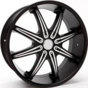 Bassani B104MB Black Machined Wheels