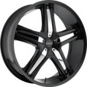 Bazo B501 Satin Blk Chrome Inserts