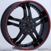 Bzo Rapture 24 Black Red Outerline