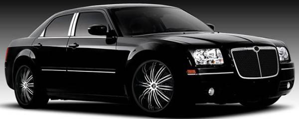 II Crave No. 7 Black Machine on 2007 Chrysler 300