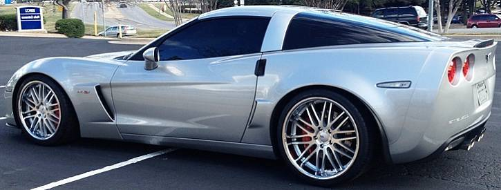 Cray Hawk Wheels on Corvette C6 Z06