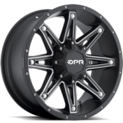 DPR Offroad Gloc Black with Silver Accent