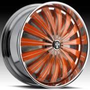 DUB Flash Custom Orange Spinning Wheels
