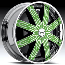 DUB Tycoon Custom Green Spinning Wheels