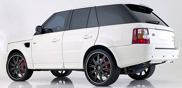 DUB X-180 CUSTOM BLACK on RANGE ROVER
