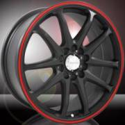 Divinity D84 Matte Black Red Racing Stripe