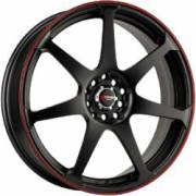 Drag DR-33 Flat Black Red Stripe
