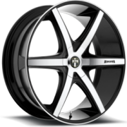 Dub S113 Rio 6 Black Machined