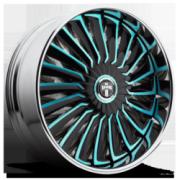DUB S717 Turbine Black Teal Accents