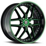 Dub X-19 Blk Green Accents