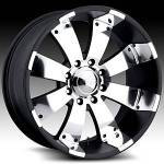American Eagle Wheels Series 064 Super Finish Blk.