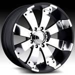 American Eagle Wheels Series 064 Super Finish Blk.