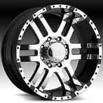 American Eagle Wheels Series 079 Super Finish Blk.