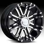 American Eagle Wheels Series 197 Super Finish Blk.