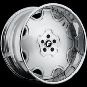 Fiore Satin Silver Hyper Polished Chrome Lip