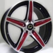 G-Line G253 Blk Red Spokes