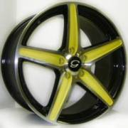G-Line G253 Blk Yellow Spokes
