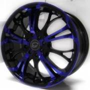 G-Line G667 Black and Blue Wheels