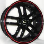 G-Line G817 Blk Red Stripe