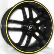G-Line G817 Blk Yellow Stripe