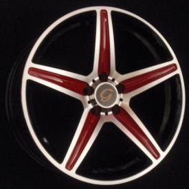 G 253 Black with Red Spokes
