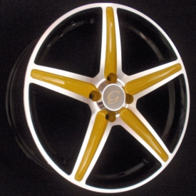 G 253 Black with Yellow Spokes