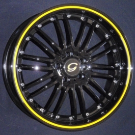 G 820 Black with Yellow Stripe