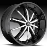 Hipnotic 360 Black Wheel Chrome Inserts