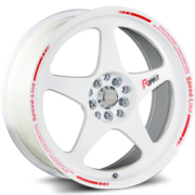 Katana K121 Gloss White Wheels
