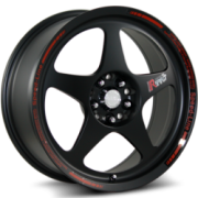 Katana K121 Matte Black Wheels